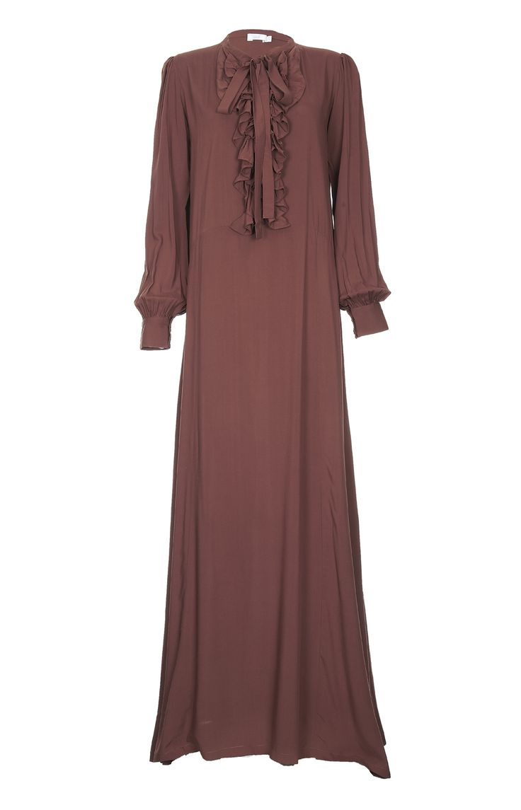 Aab UK Ruffles Abaya : Standard view
