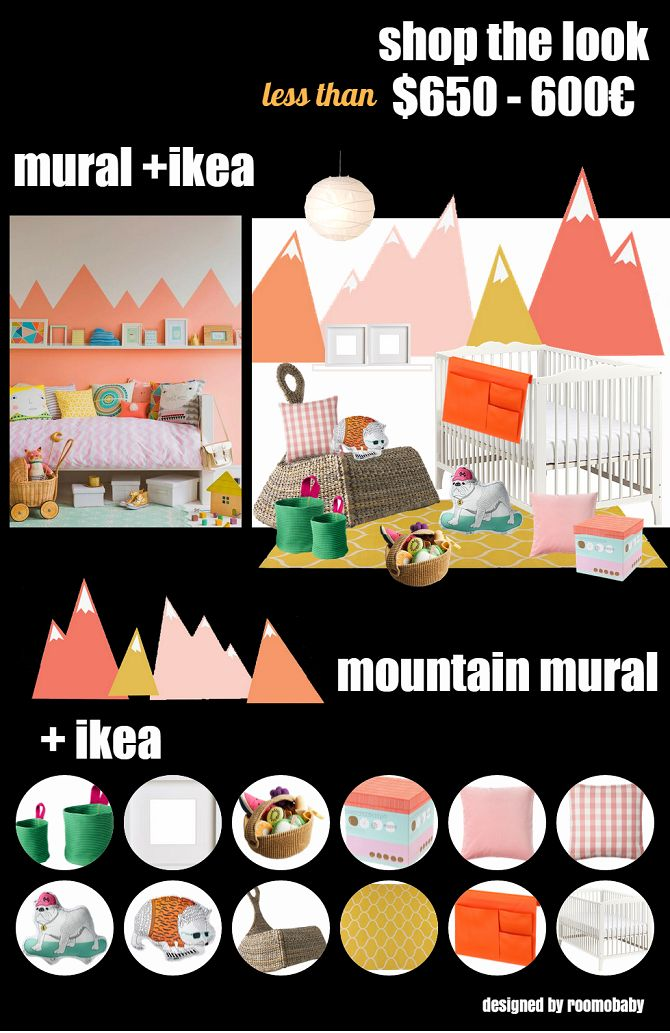 Roomobaby blog mountain mural ikea nursery wall for Egouttoir mural ikea