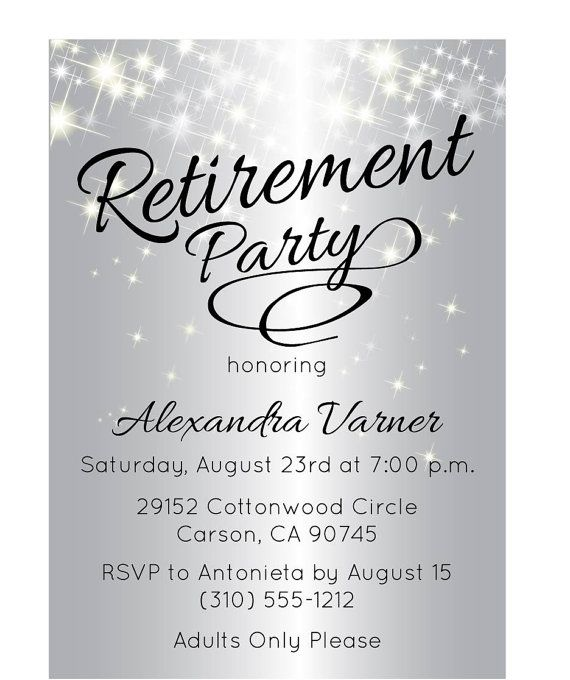57 best retirement party ideas images on pinterest | retirement, Wedding invitations