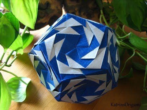 ▶ Origami ※ Tornado ※ Kusudama - YouTube