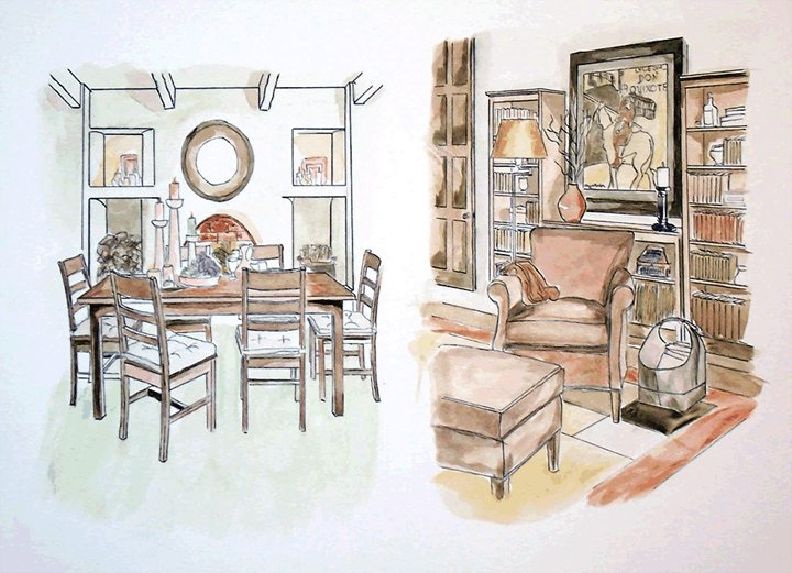 Interior Design Color Sketches 32 best perspective interior drawings images on pinterest