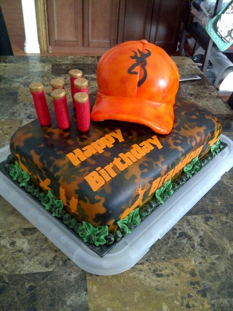 Hunting Fishing Birthday Cake