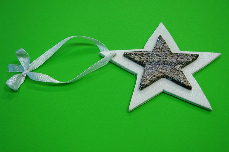 Wooden star. Beautiful Christmas Tree decoration. 100% hand made.