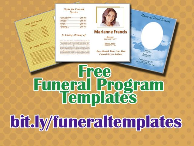 45 best funeral template images on pinterest memorial for Free funeral program template