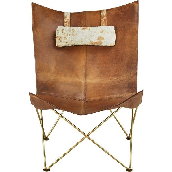 Brown Leather Butterfly Chair with Hide Headrest   liked on Polyvore  featuring home  furniture. Best 20  Butterfly chair ideas on Pinterest   Leather furniture