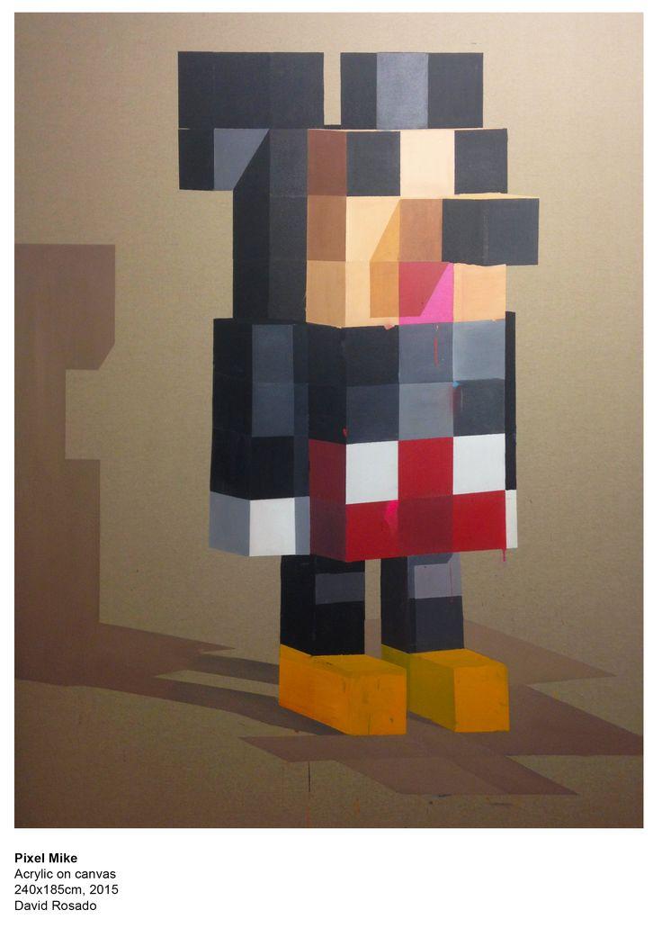 Pixel Mike Acrylic on canvas 240x185cm,2015 David Rosado