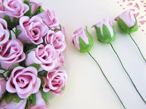 How to make beautiful paper flowers ❤ Rose bouquet for special days - YouTube