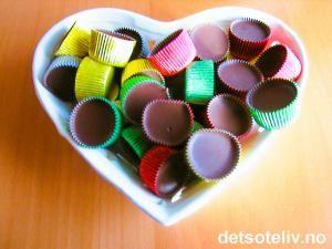 Issjokolade med mintsmak   Det søte liv