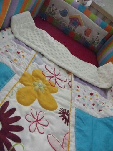 sewing crib set for baby, quilting bumper and quilt