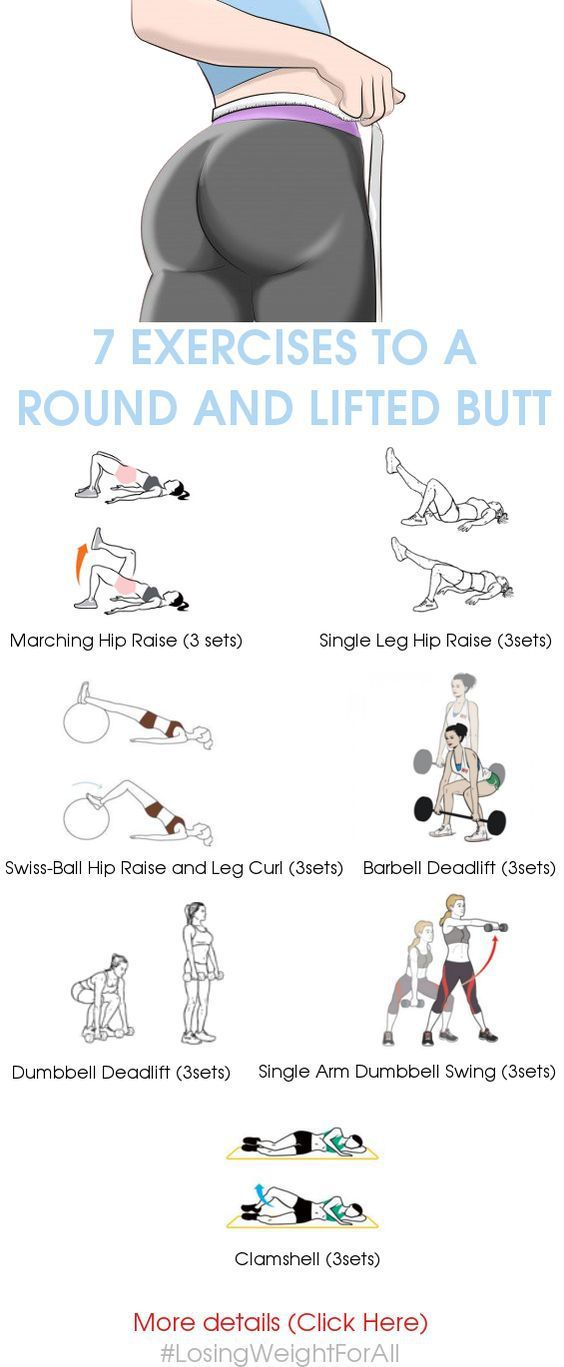 7 Exercises to a Round and Lifted Butt I know you squat. That's good, no really, it's great. But are you tired of doing them? If you are, we totally understand and can relate. So here's 7 exercises…