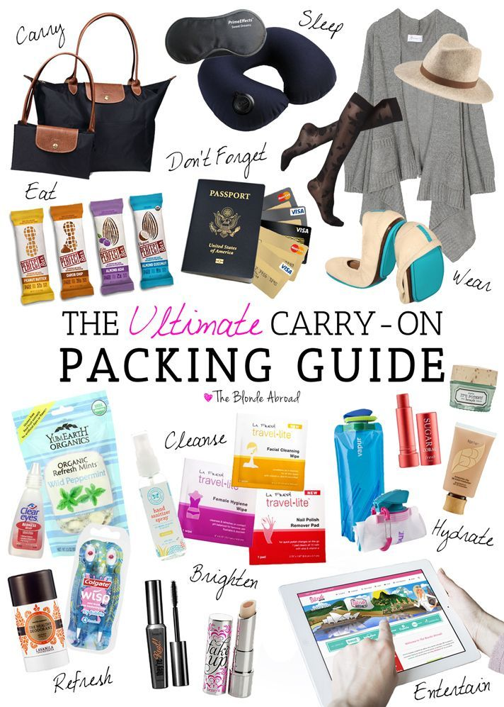 The only carry-on packing guide you'll ever need! // Get more packing tips for your European vacation at Read our packing tips for a summer holiday in Europe at http://www.holidaystoeurope.com.au/home/resources/european-travel-blog-news-travel-tips/853-packing-list-for-a-summer-holiday-in-europe