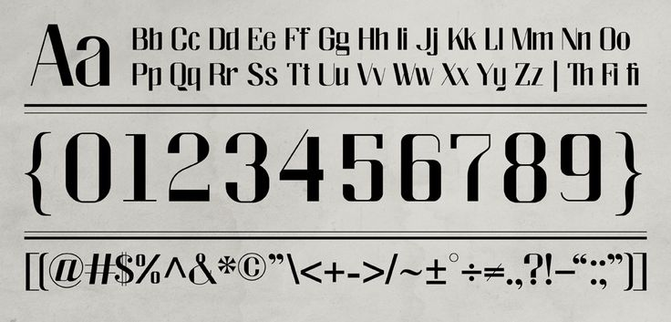 Fillmore font, inspired by 1940s and 1950s Jazz era in San Francisco