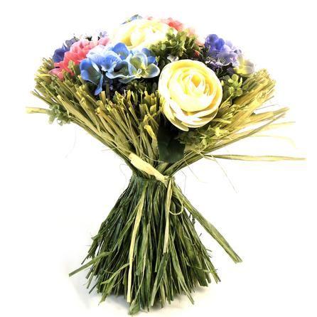 Artificial Hand Tied Ranunculus and Poppy Bouquet | Dunelm