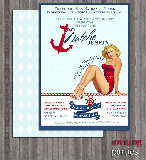 Girls night lingerie party invitations