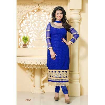Buy Louis Vogue Blue Georgette Dress Material by LOUIS  VOGUE, on Paytm, Price: Rs.1549?utm_medium=pintrest