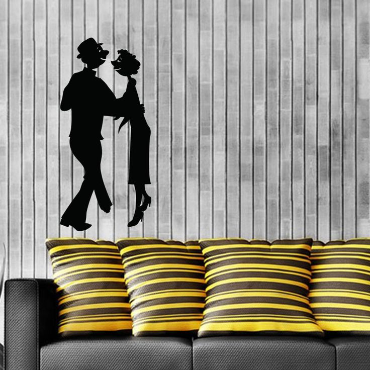 Romantic Couple Wall Decal  Romantic couple wall mural when placed on the walls will increase spice in your love life. This wall mural is available in different colors and sizes. You can increase the beauty of your living room or bedroom through this wall mural. This wall decal can be easily washed and removed, as per our convenience.