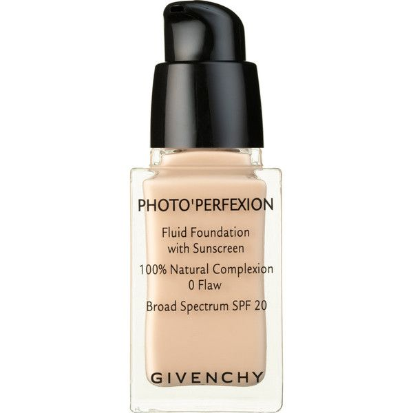 Givenchy Beauty Women's Photo'Perfexion Fluid Foundation SPF 20 Broad... found on Polyvore featuring beauty products, makeup, face makeup, foundation, nude, hydrating foundation, givenchy, givenchy foundation, spf foundation and moisturizing foundation