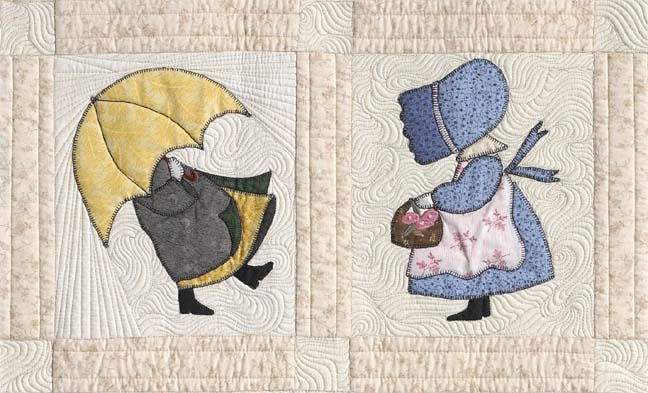 """This background filler is an example of a style of longarm quilting that has been dubbed """"McTavishing."""""""