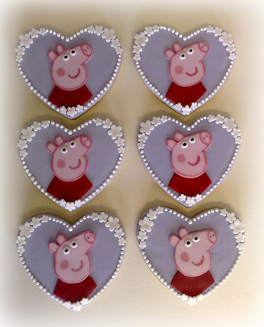 Oh, Peppa!  I DO love you!  Purple hearts with pearl and flower beading . . . what a beautiful showcase for your little face.