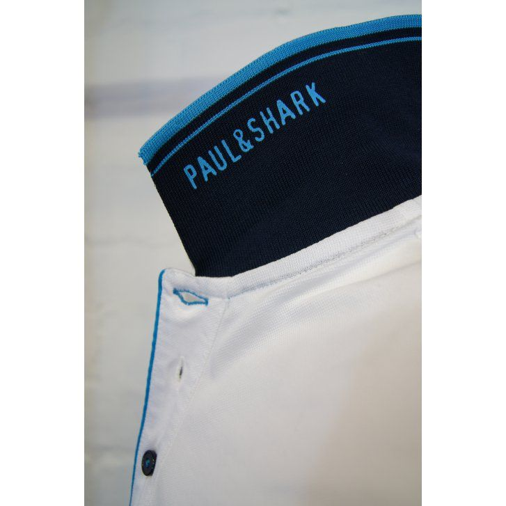 PAUL & SHARK White Cotton Pique Classic Fit Polo Shirt with Logo