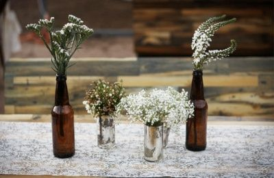 Beer Centerpieces Wedding