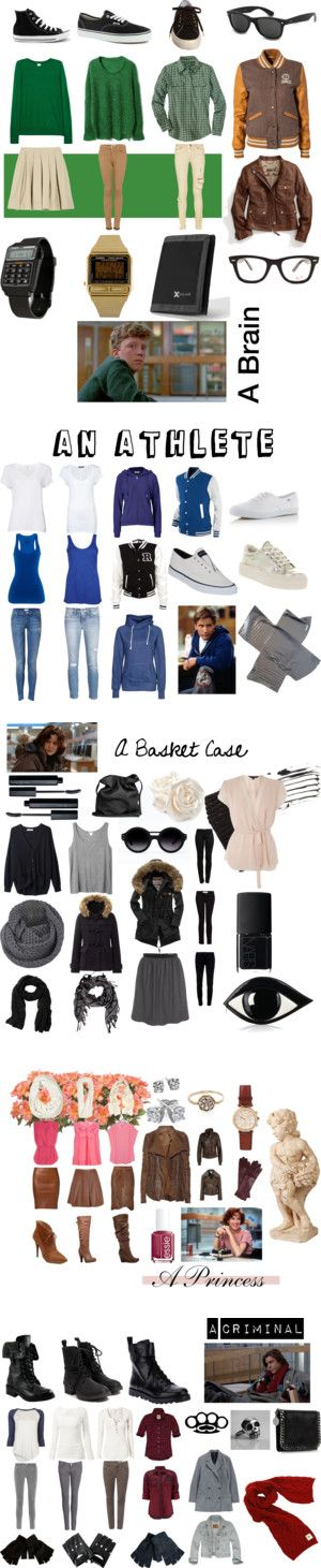 """The Breakfast Club (1985)"" by jwanya ❤ liked on Polyvore"