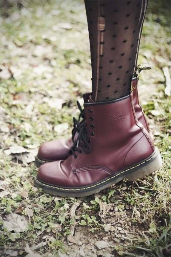 Dr. Martens + dotted panty