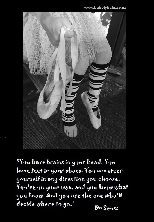 """""""You have brains in your head, you have feet in your shoes..."""" Dr Seuss and Bubbly Bubs"""