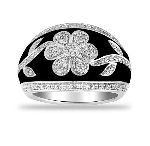 Women's Sterling Silver Fashion Ring (1/3 cttw I-J Color, I2 Clarity) Amazon Curated Collection. $265.00. Made in India. The total diamond carat weight listed is approximate. Variances may be up to .05 carats.