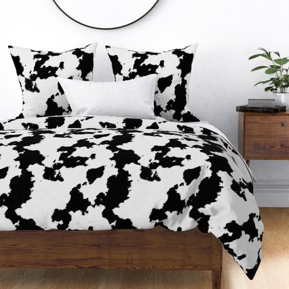 Dairy Duvet Cover White Dairy Cow Hide By Themadcraftduckie Rodeo Ranch Holstein Cotton Sateen Duvet Cover Bedding By Spoonflower White Duvet Covers Duvet Covers Duvet