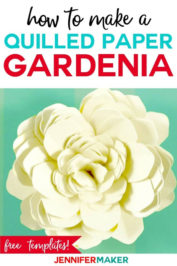 Quilled Paper Flower The Gardenia Paper Flowers Paper Flowers
