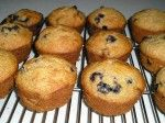 Honey Whole Wheat Blueberry Muffins (No Sugar)  I made them with Einkorn, spelt and coconut oil--yummy !