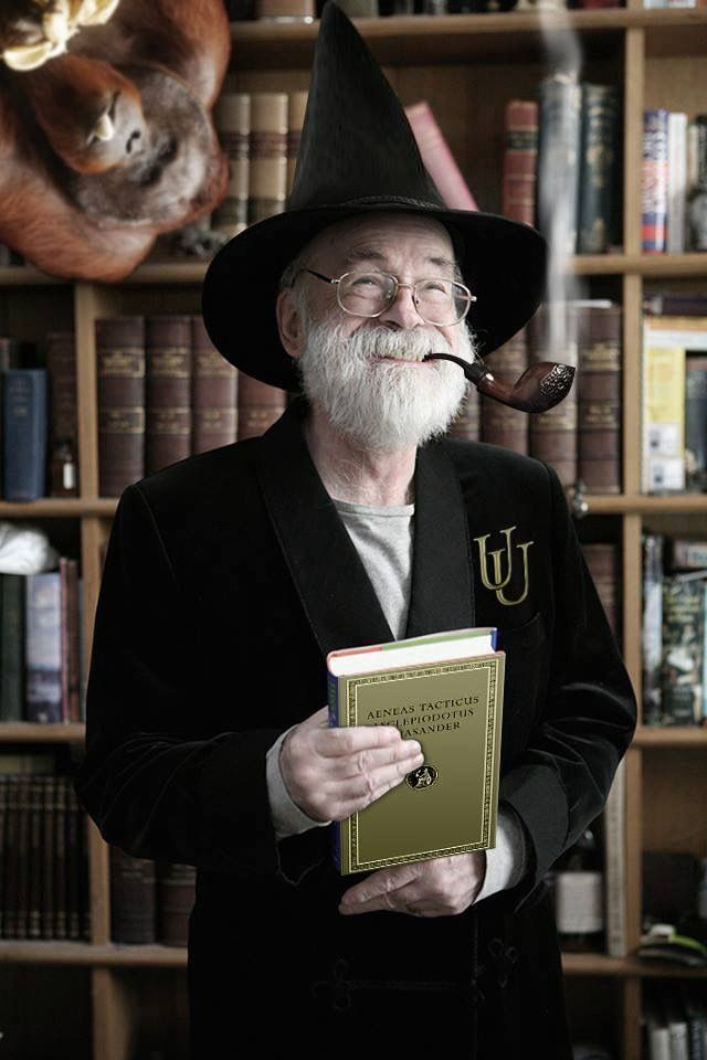 Sir Terry Pratchett, a magical author and a good man that is sorely misse!