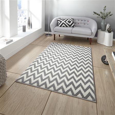Hotel Living Soho 160x220cm Rug, Grey & White