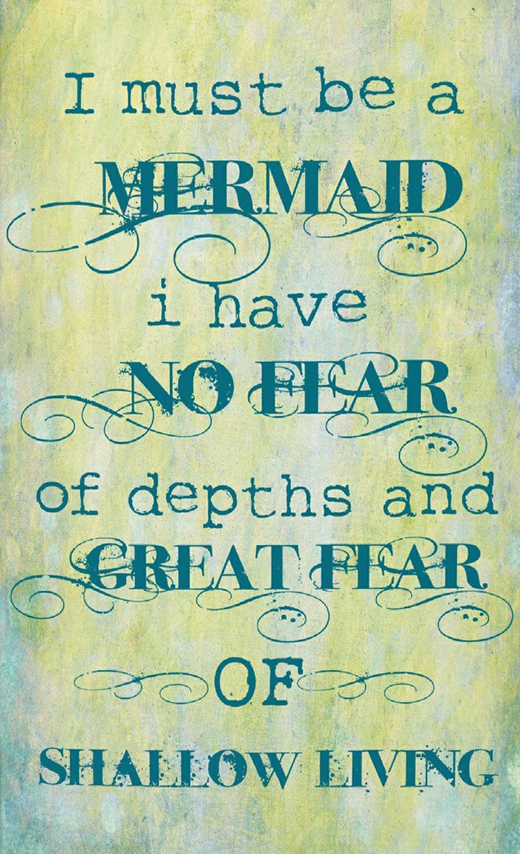 Must Be A Mermaid Canvas Wall Art