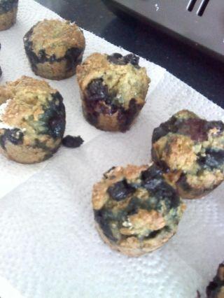Muffins au quinoa et bleuets