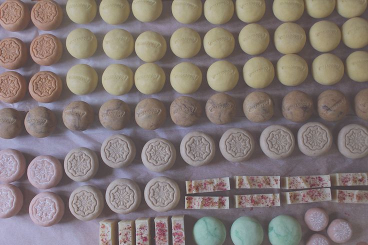 Preparing a l'essence order of handmade soap in the shape of our pebbles and bars.  Using only natural ingredients and always 100% Palm Oil Free :)