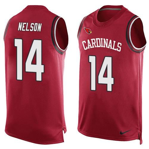 Nike Cardinals #14 J.J. Nelson Red Team Color Men's Stitched NFL Limited Tank Top Jersey