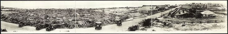 Panoramic view after Corpus Christi Tropical Storm 1919