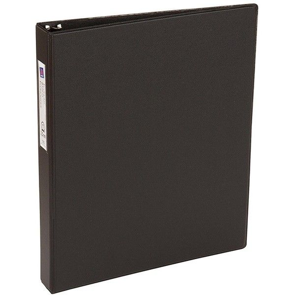 Avery Economy Binder with 1 Inch Round Ring, Black, One Binder (04301) ($2.88) ❤ liked on Polyvore featuring home, home decor, office accessories, avery, avery binders and black binder