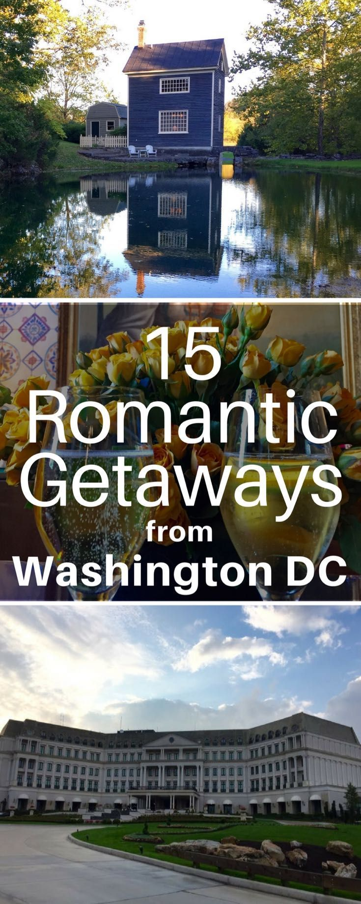 USA #Travel | Romantic Getaways | Spark the flames of love with these 15 fabulous #romantic getaways from Washington DC, including charming country inns and luxurious city lodging.