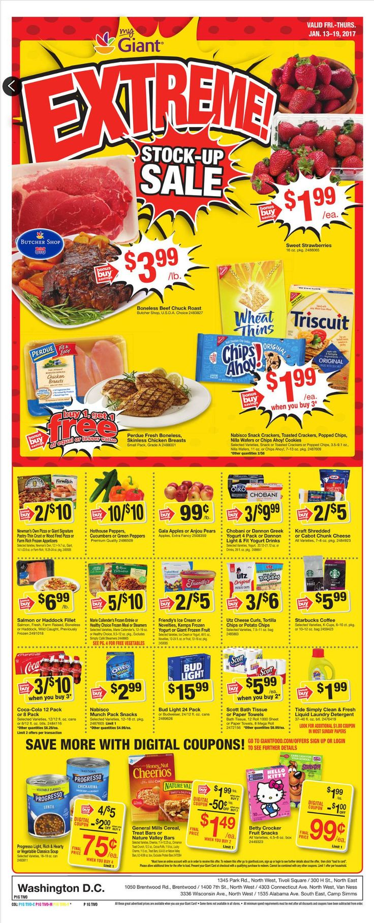Giant Food Weekly Ad January 13 - 19, 2017 - http://www.olcatalog.com/grocery/giant-food-weekly-ad.html
