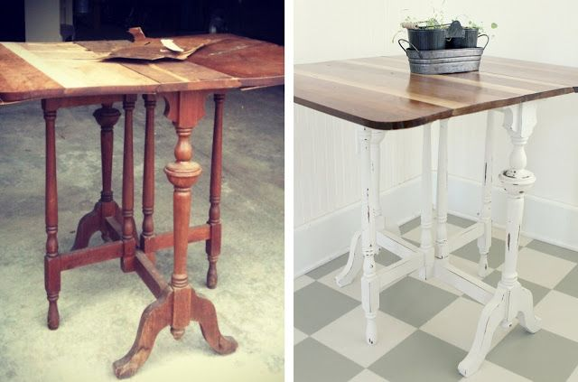 The Little Red Chair: Farmhouse Table Before & After