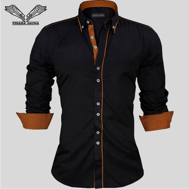 Men Dress Shirts Europe Size New Arrivals Stylish Slim Fit Male Shirt Solid Long Sleeve British Style Cotton Men's Shirt N332-in Casual Shirts from Men's Clothing & Accessories on Aliexpress.com | Alibaba Group