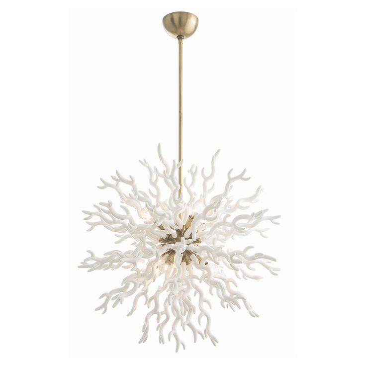 76 best dcor lighting chandeliers pendants images on arteriors diallo chandelier which is coral inspired white lacquered resin chandelier is as dramatic as it is unique the antique brass center sphere gives aloadofball Choice Image