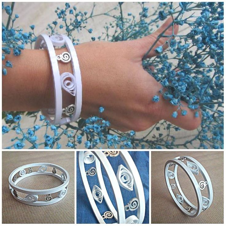 paper quilling bracelet