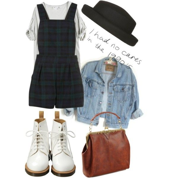 """90"" by avecwanderlust on Polyvore See, just because its flannel, don't make it 90's! Lol I totally love this look, but I missed it the first time around because I was ginormous. Boo."