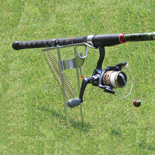 Specifications: Name : double spring sea fishing rod stand Material : stainless steel Weigh t: 430g Dimension : 43cm * 6cm Max tension : 50kg Features: This bra
