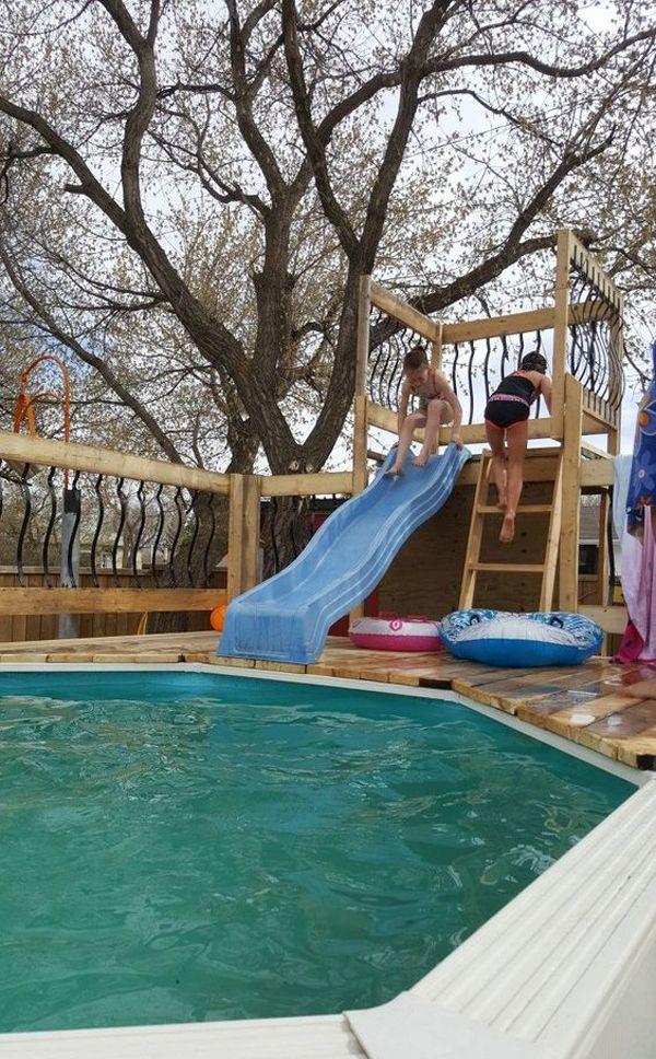20 Great Diy Item Ideas For Kids Pool Swimming Pool Slides
