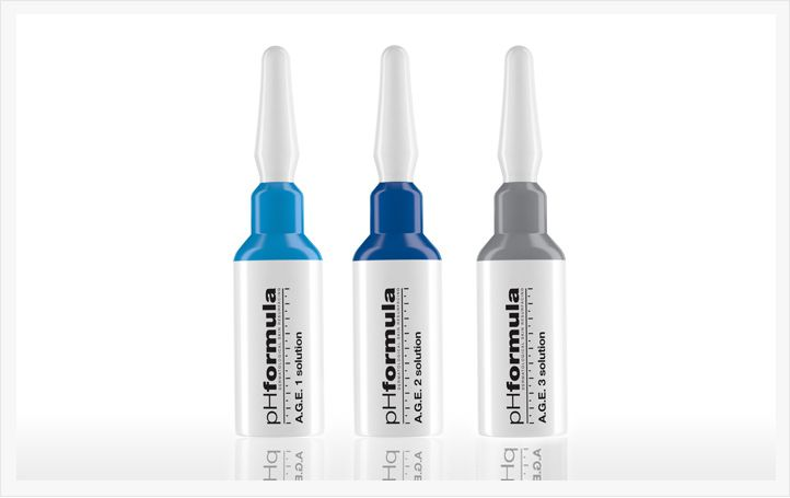Active and effective skin #resurfacing solutions for the treatment of typical signs of ageing like photo-ageing, pigment changes, dull sallow appearance, superficial and medium expression lines. The #pHformula A.G.E. solutions were specifically formulated as advanced anti-ageing skin resurfacing treatments to help correct typical signs of ageing.